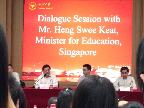 Minister is sharing his ideas on education