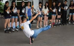Roller blading performance