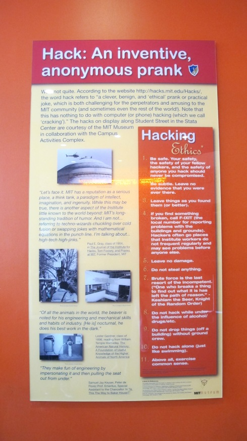 A quick introduction to 'hacking' in MIT.