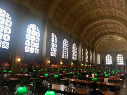 The lamps and tables here evoke the image of times long past, though musty tomes on desks have been replaced by laptops and iPads in recent years.