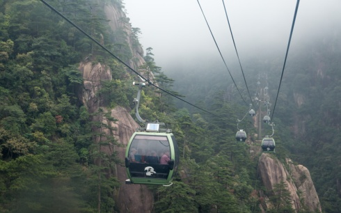 Fine, we cheated. We took the cable car up, which covered a fair distance of the way.
