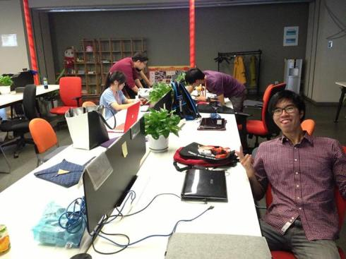 Our work space for our internship period, where we would be designing and innovating on ideas to improve the user experience of Alibaba.com users.