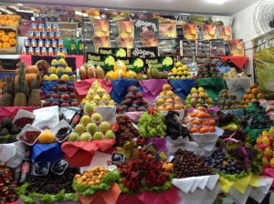 incredible amounts of fruits they have at the city market