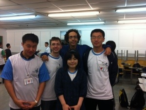 My teammates from left to right (myself, Victor, Youssef , Zhixing , Mai)