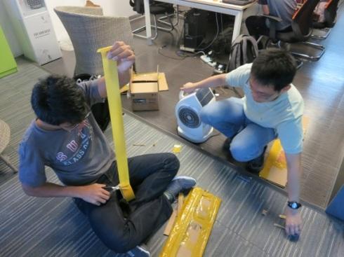 Making crude prototype of dyson fan blades