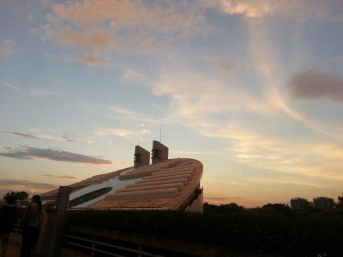 Beautiful sunset & 月牙楼